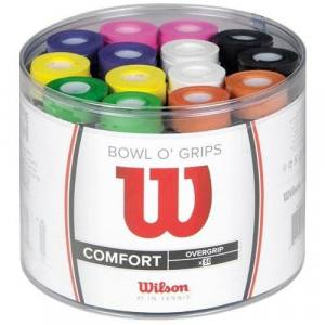 Cubo de 50 Overgrips Wilson de colores