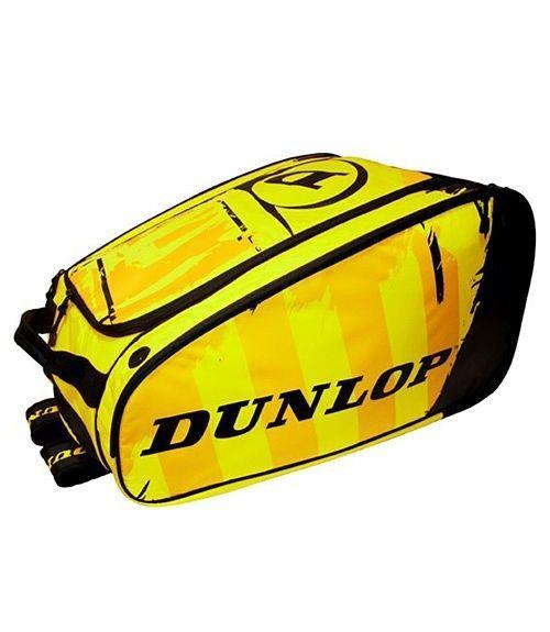 Paletero Dunlop Pro Negro-Amarillo