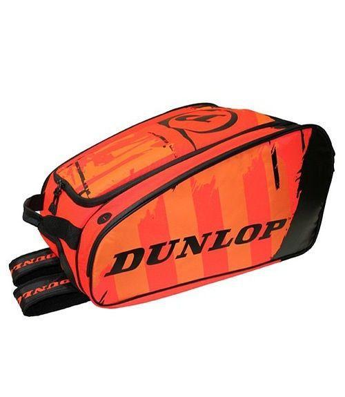 Paletero Dunlop Pro Negro-Naranja