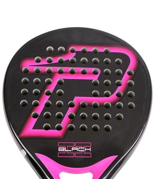Black Brillo Fucsia Pala Power Padel