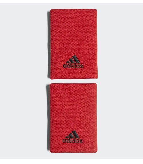 Blister 2 muñequeras Adidas Rojo