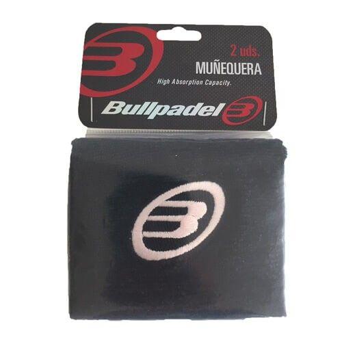Blister 2 muñequeras Bullpadel Negro