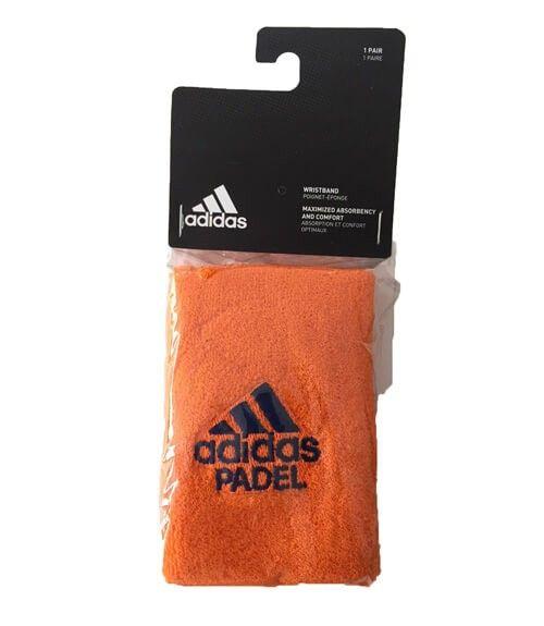Blister 2 muñequeras Adidas Naranja