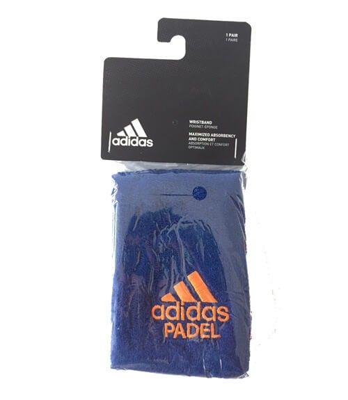 Blister 2 muñequeras Adidas Azul