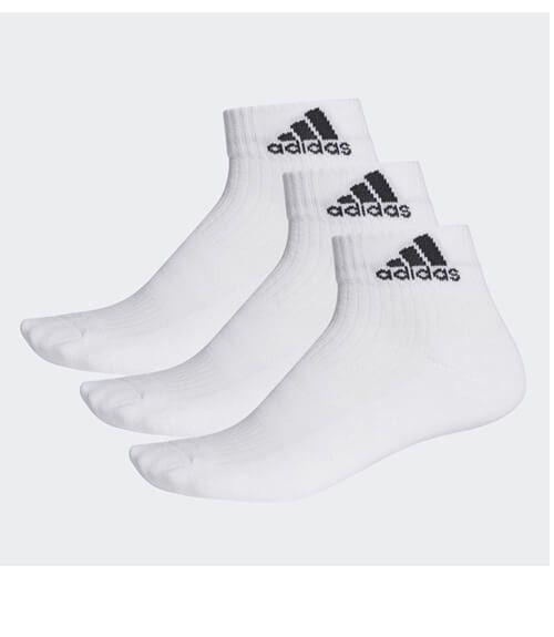Calcetines Adidas Cortos Blancos Pack 3