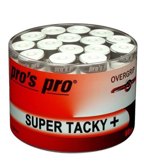 Tambor 60 Overgrips Pro´s Pro Super Tacky Plus Blancos