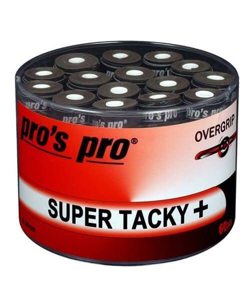 Tambor 60 Overgrips Pro´s Pro Super Tacky Plus Negros