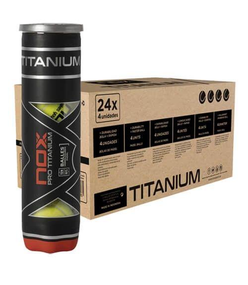 Cajón 24 botes de 4 pelotas NOX Pro Titanium