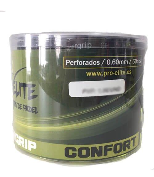 Tambor 60 Overgrips Pro Elite Confort Perforados Colores