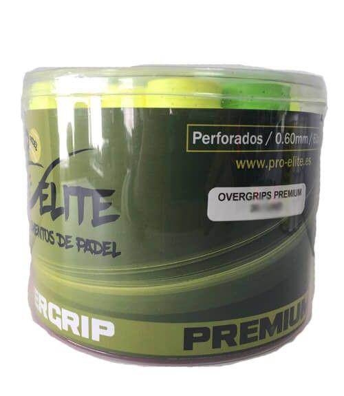 Tambor 60 Overgrips Pro Elite Premium Perforados Colores