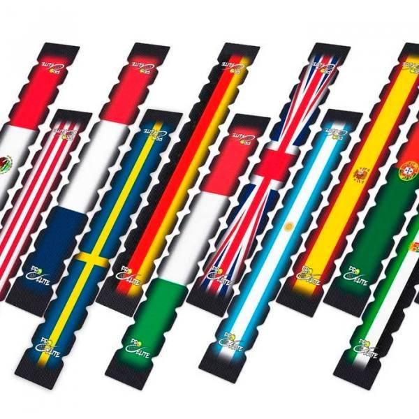 Protectores dentados banderas