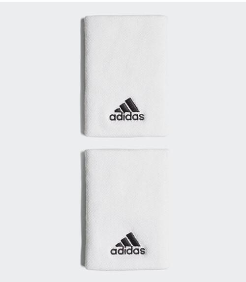 Blister 2 muñequeras Adidas Blancas
