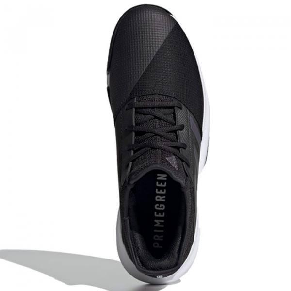 Zapatilla Adidas Gamecourt negras frente