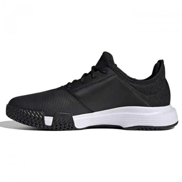Zapatilla Adidas Gamecourt negras perfil 2