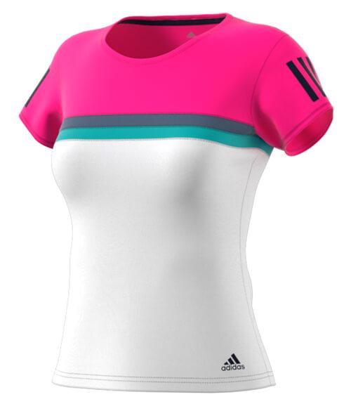 Camiseta Adidas Club Rosa Mujer