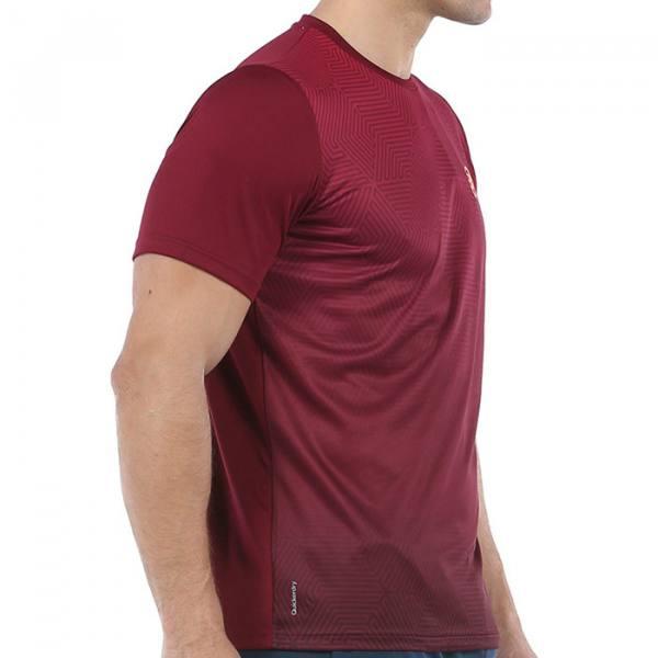 Camiseta Bullpadel Cenegui Vino-Burdeos
