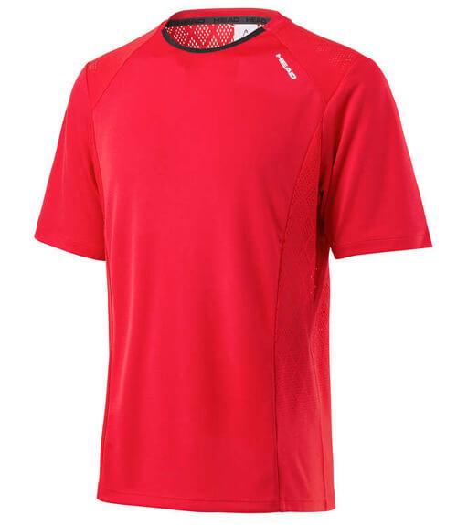 Camiseta HEAD Performance Crew Roja