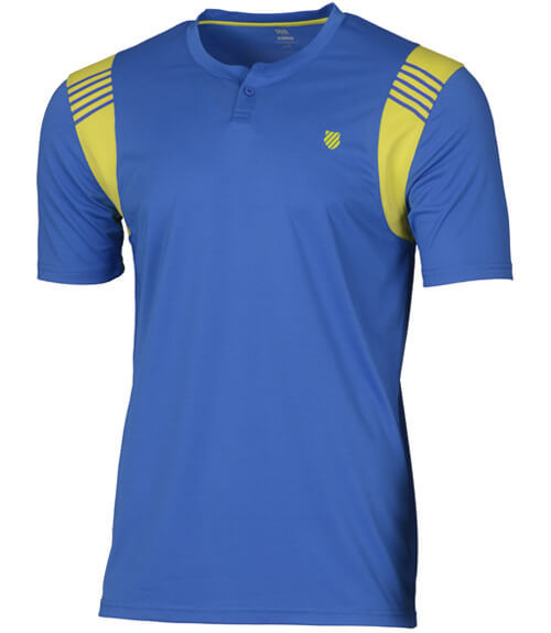 Camiseta KSwiss Henley Crew Strong Blue