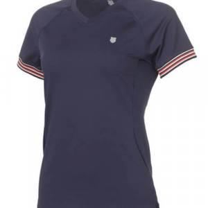 Camiseta K-Swiss Heritage Azul Mujer
