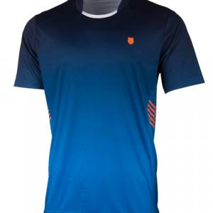 Camiseta K-Swiss Hypercourt Express Crew Azul