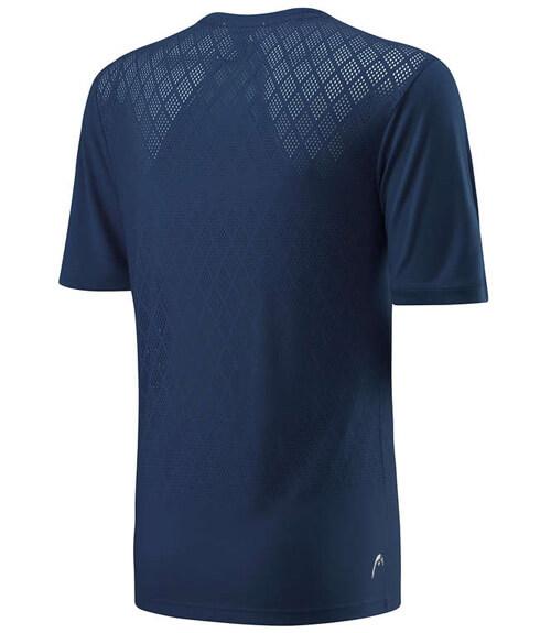 Camiseta HEAD Performance Crew Blue