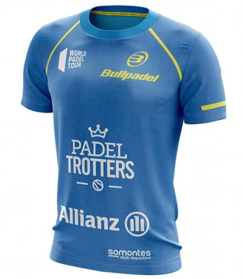 Camiseta Oficial Bullpadel Paquito Navarro Cyan