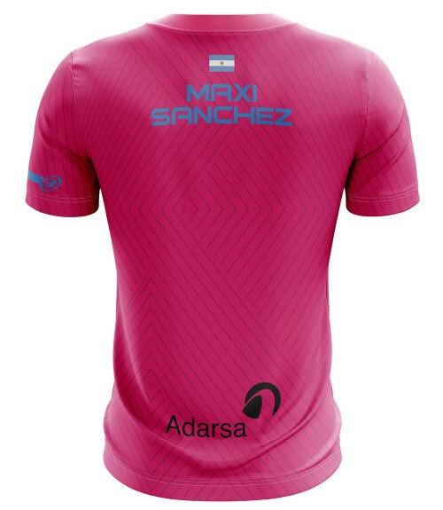 Camiseta Bullpadel Maxi Sánchez Fresa Ácida