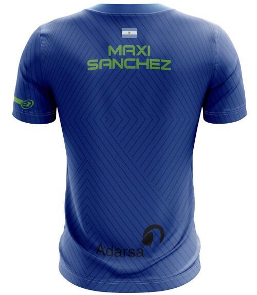 Camiseta Bullpadel Maxi Sánchez Azul Real