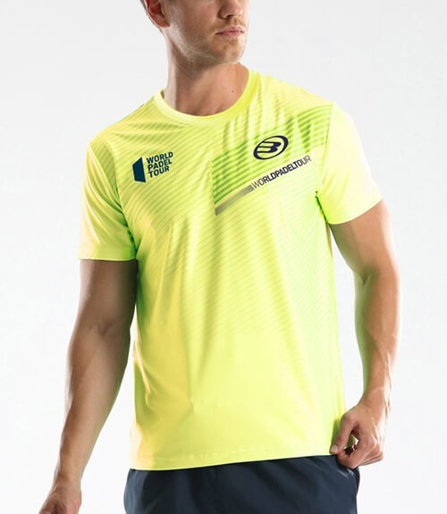 Camiseta Bullpadel WPT Tefilo Amarilla Limón Flúor