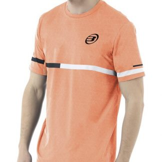 Camiseta Bullpadel Intria Naranja Flúor