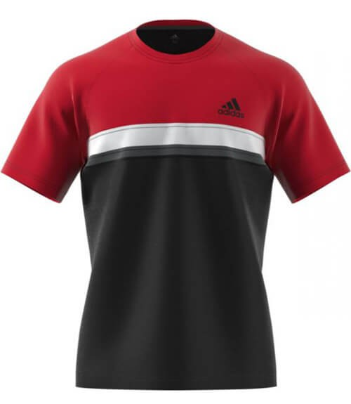Camiseta Adidas Roja y Negra