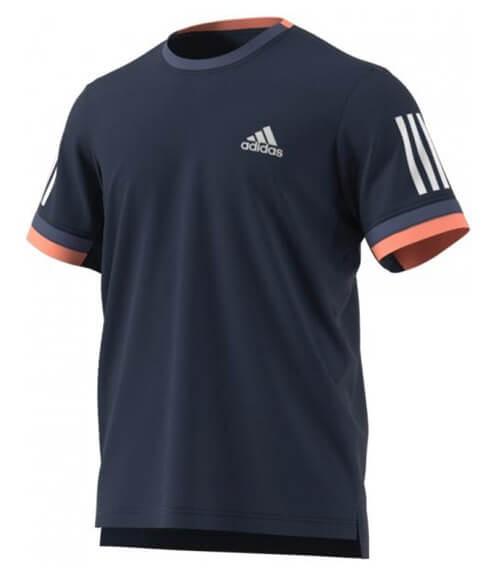 Camiseta Adidas Club Azul-Coral