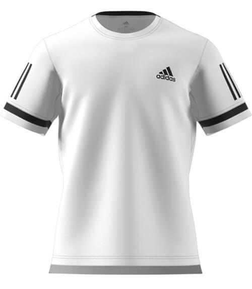 Camiseta Pádel Adidas Blanca-Negra