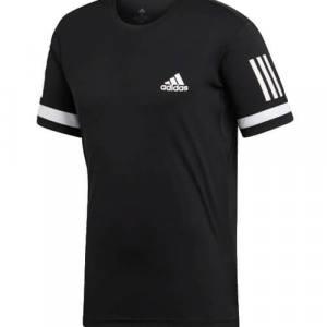 Camiseta Adidas Club Negra-Blanca
