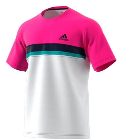 Camiseta Adidas Club Rosa-Blanca