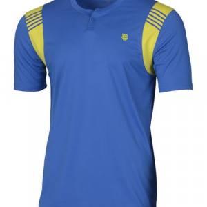 Camiseta K-Swiss Henley Crew Strong Blue