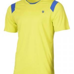 Camiseta K-Swiss Performance Crew Amarilla