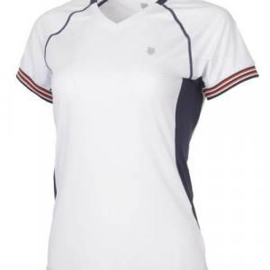 Camiseta K-Swiss Heritage Blanca Mujer