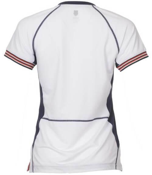 Camiseta K-Swiss Heritage White Mujer