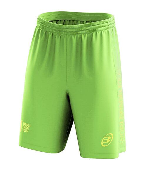 Pantalón corto Bullpadel WPT Tobit Verde Flúor