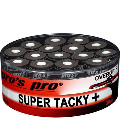 Tambor 30 Overgrips Pro´s Pro Super Tacky Plus Negros