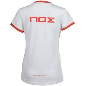 Camiseta Nox Team Blanca-Roja Mujer 2020