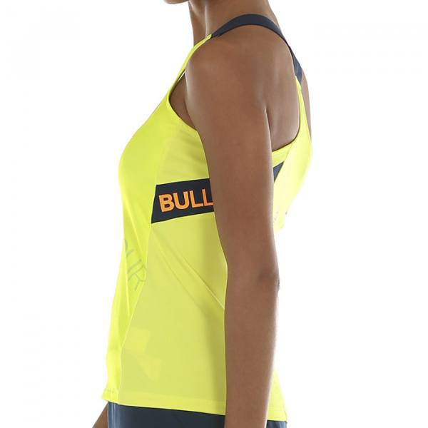 Camiseta Tirantes Bullpadel Serenis Amarilla 2020