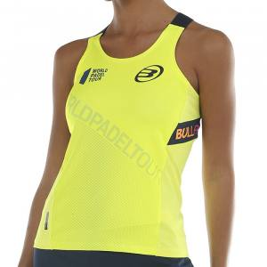 Camiseta Tirantes Bullpadel Serenis Amarilla