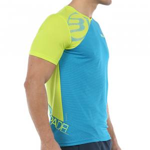 Camiseta Bullpadel Chamois Azul-Lima