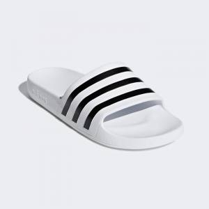Chanclas Adidas Adilette Aqua Blancas Rayas Negras 20