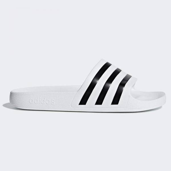 Chanclas Adidas Adilette Aqua Blancas Rayas Negras