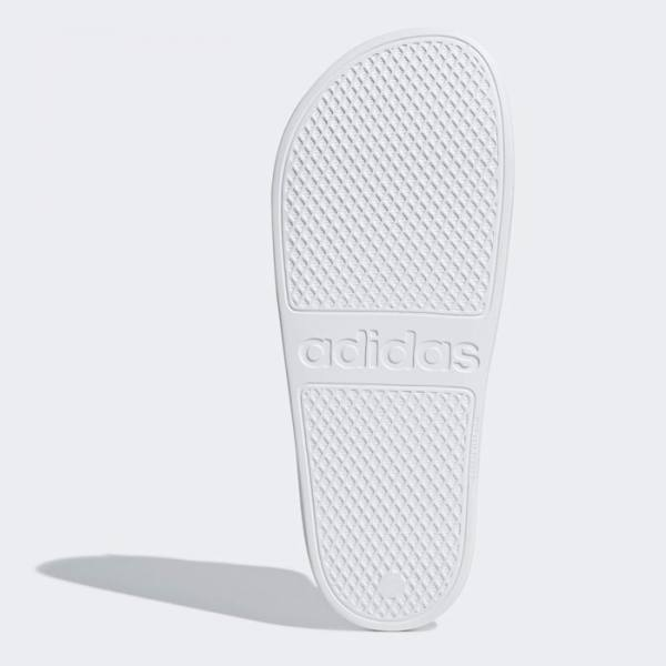 Chanclas Adidas Adilette Aqua Blancas Rayas Negras Suela