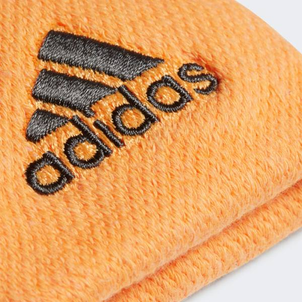Muñequeras Adidas Pequeñas Naranjas Detalle