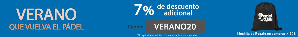 7% de Descuento Verano 2020 PadelStyle